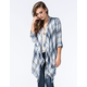 SOCIALITE Womens Window Fringe Cardigan