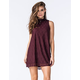 SOCIALITE Mock Neck Lace Dress