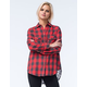 TAYLOR & SAGE Womens Lace Back Flannel