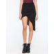 FULL TILT Ribbed Wrap Womens Midi Skirt