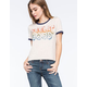 FULL TILT Feelin' Good Womens Ringer Tee