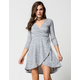 FULL TILT Marled Hachi Wrap Dress
