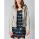 LOST Tuesday Faux Leather Womens Hooded Jacket