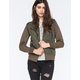 HURLEY Quilted Fleece Womens Puffer Jacket