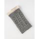 Crochet Trim Boot Cuff Socks