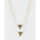 FULL TILT Dainty Double Triangle Layer Necklace