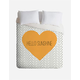 DENY DESIGNS Hello Sunshine Heart Duvet Cover