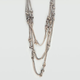 FULL TILT Double Knotted Sham Station Necklace