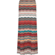 FULL TILT Ethnic Stripe Fold Over Maxi Skirt