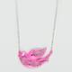 FULL TILT Neon Epoxy Swirl Bird Necklace