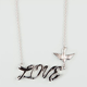 FULL TILT Epoxy Love Script Bird Necklace