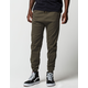 CHARLES AND A HALF Olive Mens Twill Jogger Pants