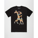 RIOT SOCIETY Native Panda Giraffe Mens T-Shirt