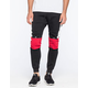 UNCLE RALPH Color Block Mens Moto Jogger Pants