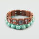 FULL TILT 2 Piece Saints and Turquoise Bead Bracelets