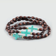 FULL TILT 3 Pieced Turquoise Cross Beaded Bracelets