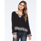 PATRONS OF PEACE Embroidered Womens Top