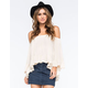 FULL TILT Off The Shoulder Ruffled Womens Top