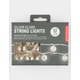 KIKKERLAND Silver Globe String Lights