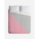 PINK N STRIPES DUVET TWIN
