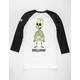 NEFF x The Simpsons Bad To The Bone Mens Glow in the Dark Baseball Tee