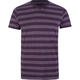 BLUE CROWN Rugby Stripe Mens V-Neck T-Shirt