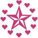 SO CAL Star Hearts 6.5 Sticker