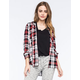 HURLEY Wilson Womens Hooded Plaid Shirt