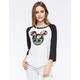 NEFF Disney Collection Aztec Floral Mickey Womens Raglan Tee