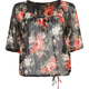 FULL TILT Floral Womens Peasant Top