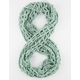 Open Square Knit Infinity Scarf