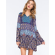 PATRONS OF PEACE Printed Babydoll Dress