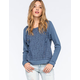 TAYLOR & SAGE Lace Crochet Womens Hoodie