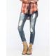 ALMOST FAMOUS Premium Destroyed Womens Skinny Jeans