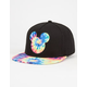 NEFF Disney Collection Tie Dye Mickey Mens Snapback Hat