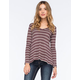 LIVING DOLL Waffle Knit Womens Swing Tee