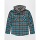 SHOUTHOUSE Edgemont Boys Hooded Flannel Shirt