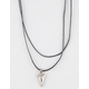 FULL TILT 2 Layer Cord Arrow Necklace