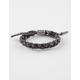 RASTACLAT Black Tar Shoelace Bracelet