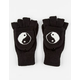 Yin Yang Foldover Fingerless Gloves