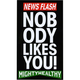 MIGHTY HEALTHY News Flash Sticker