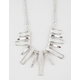 FULL TILT Shiny Rhodium Glitter/Crystal Necklace