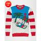 Santa's Vacay Light Up Ugly Christmas Sweater