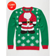 Santa Light Up Ugly Christmas Sweater
