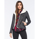 FULL TILT Textured Faux Shearling Womens Jacket