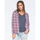 ROXY Foggy Shore Womens Plaid Shirt