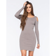 SAY WHAT Cold Shoulder Ribbed Knit Dress