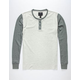 SHOUTHOUSE Colorblock Mens Thermal Henley