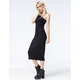 SAY WHAT Ribbed Midi Dress