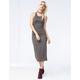 SAY WHAT Ribbed Midi Dress